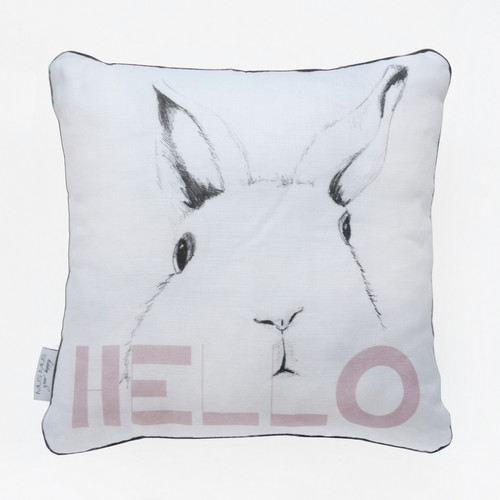 LINEN DECORATIVE PILLOW  |  BUNNY